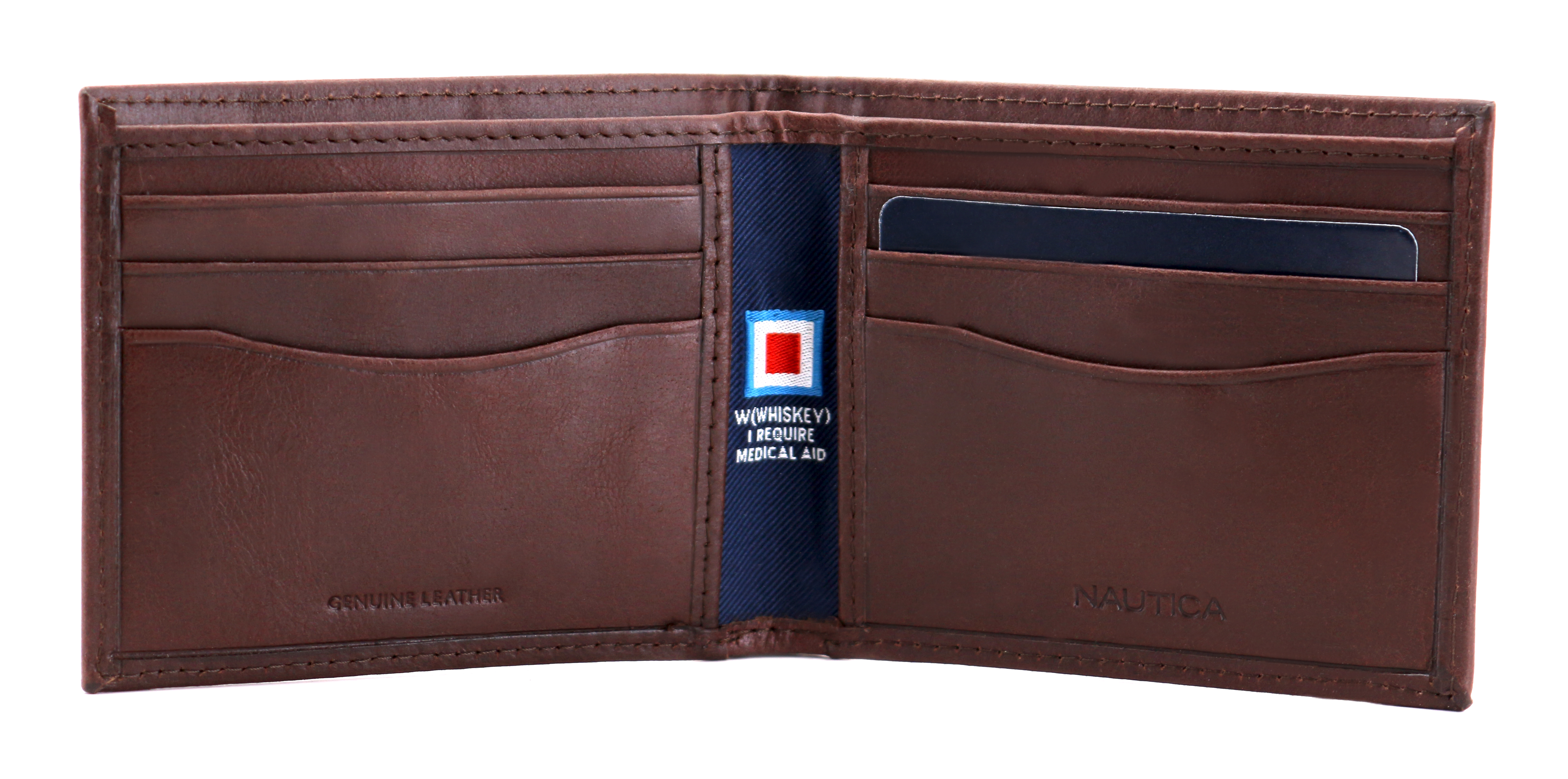 Nautica-Men-039-s-Genuine-Vintage-Leather-Credit-Card-ID-Billfold-Passcase-Wallet thumbnail 14
