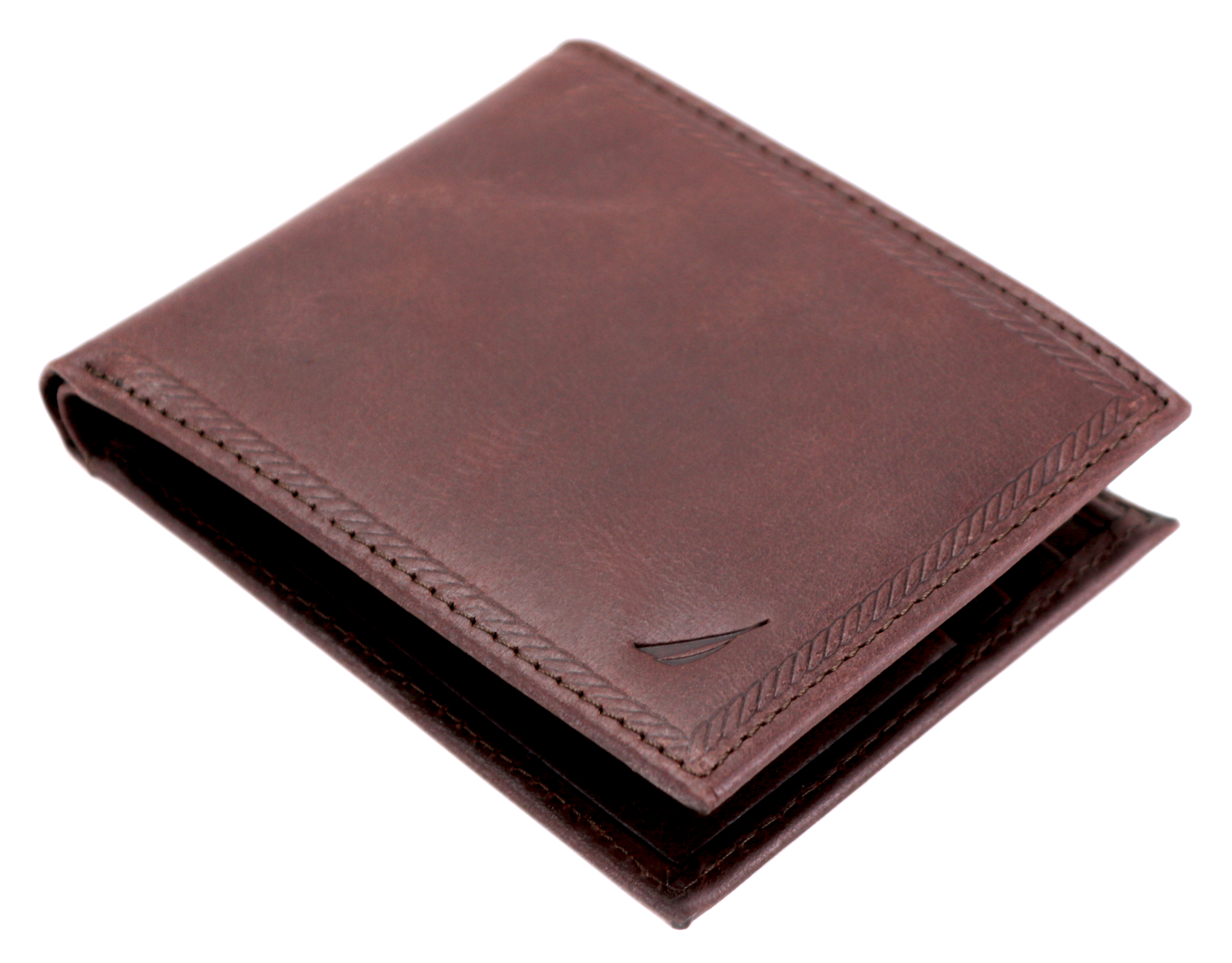 Nautica-Men-039-s-Genuine-Vintage-Leather-Credit-Card-ID-Billfold-Passcase-Wallet thumbnail 12