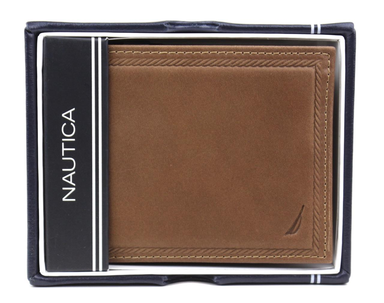 Nautica-Men-039-s-Genuine-Vintage-Leather-Credit-Card-ID-Billfold-Passcase-Wallet thumbnail 23