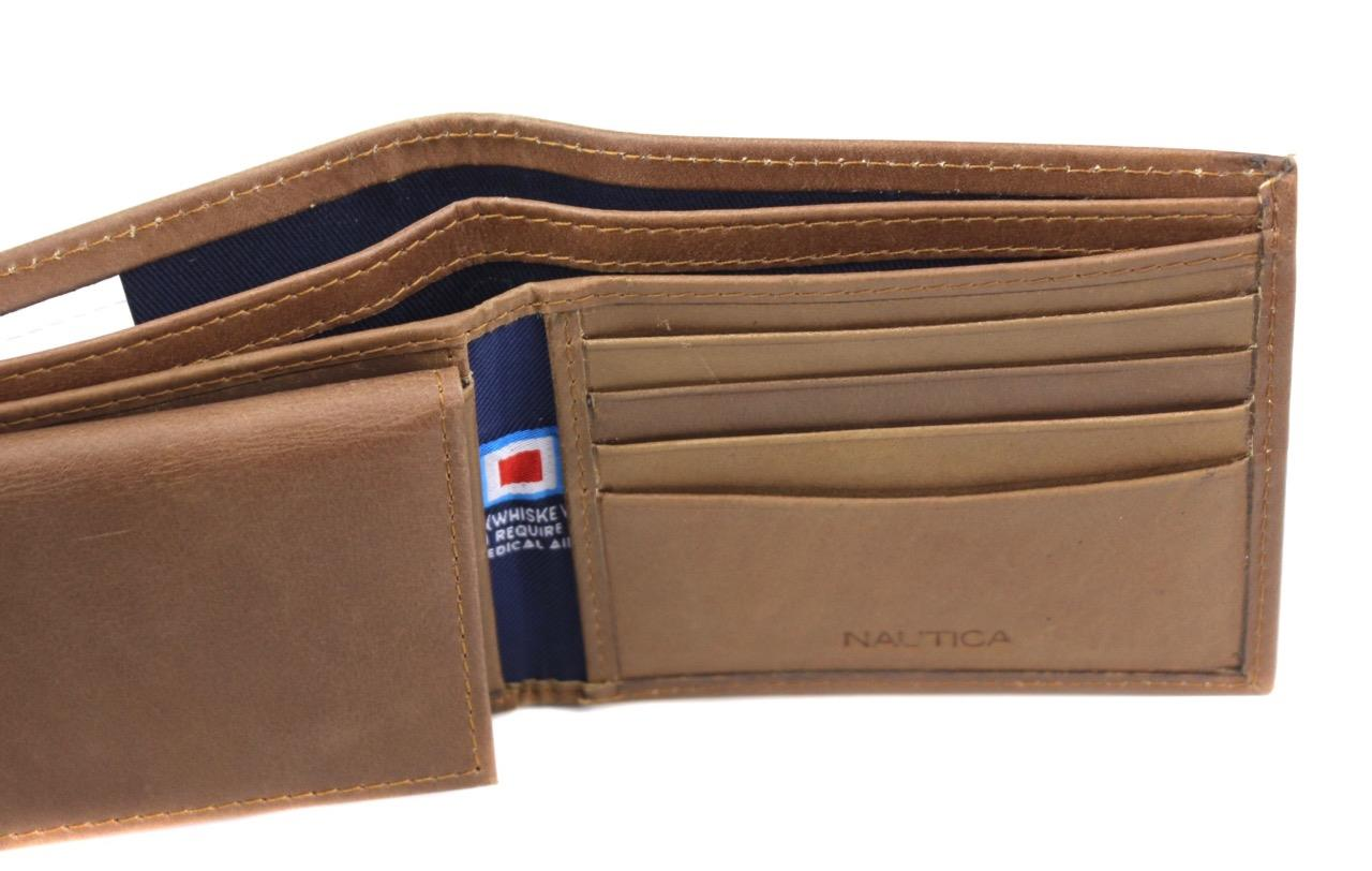 Nautica-Men-039-s-Genuine-Vintage-Leather-Credit-Card-ID-Billfold-Passcase-Wallet thumbnail 21