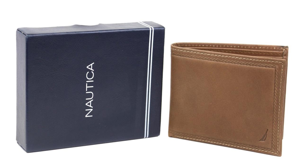 Nautica-Men-039-s-Genuine-Vintage-Leather-Credit-Card-ID-Billfold-Passcase-Wallet thumbnail 22