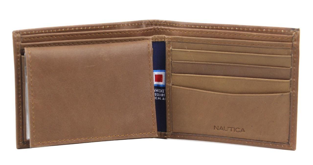 Nautica-Men-039-s-Genuine-Vintage-Leather-Credit-Card-ID-Billfold-Passcase-Wallet thumbnail 20