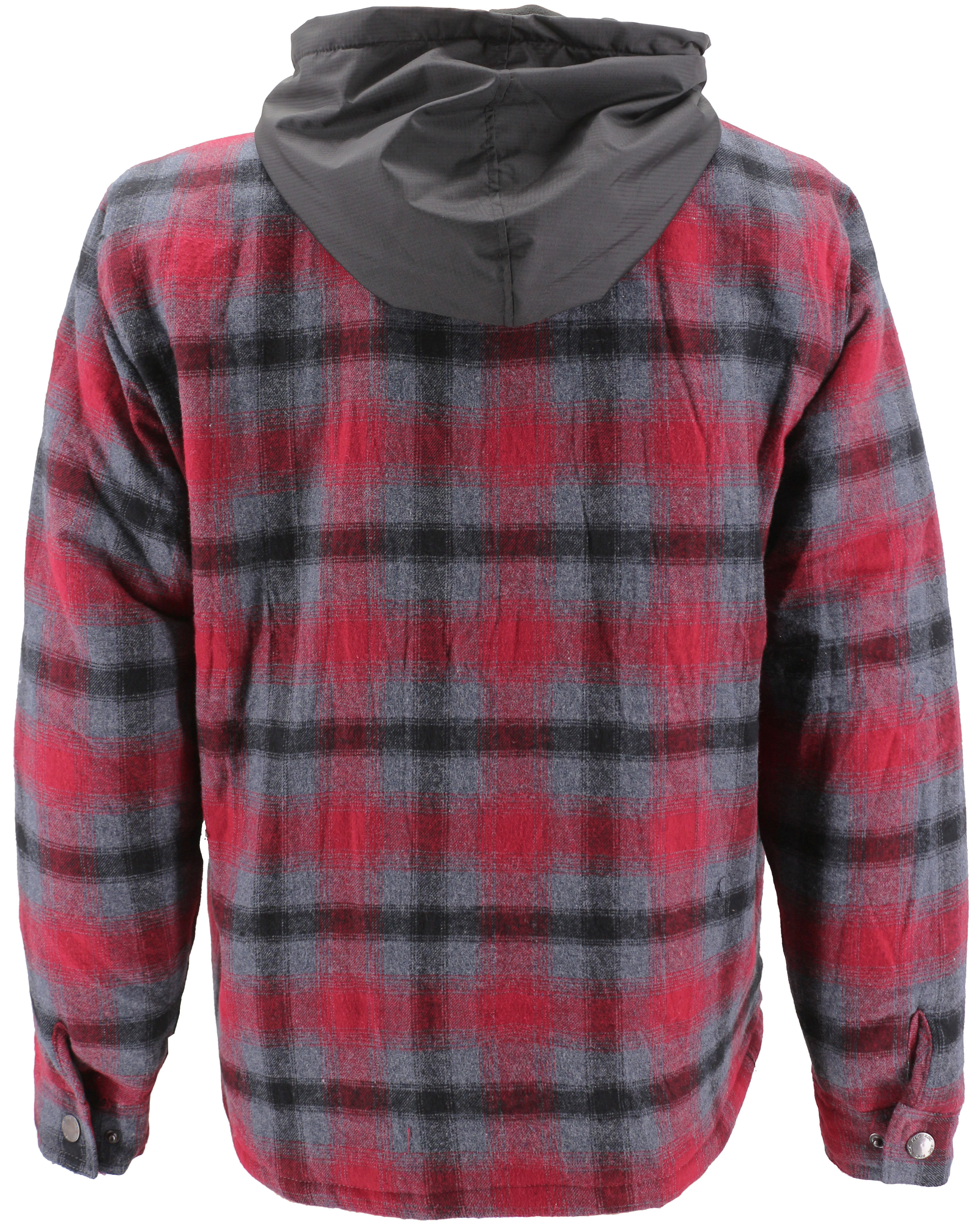 vkwear-Men-039-s-Quilted-Lined-Cotton-Plaid-Flannel-Layered-Zip-Up-Hoodie-Jacket thumbnail 13