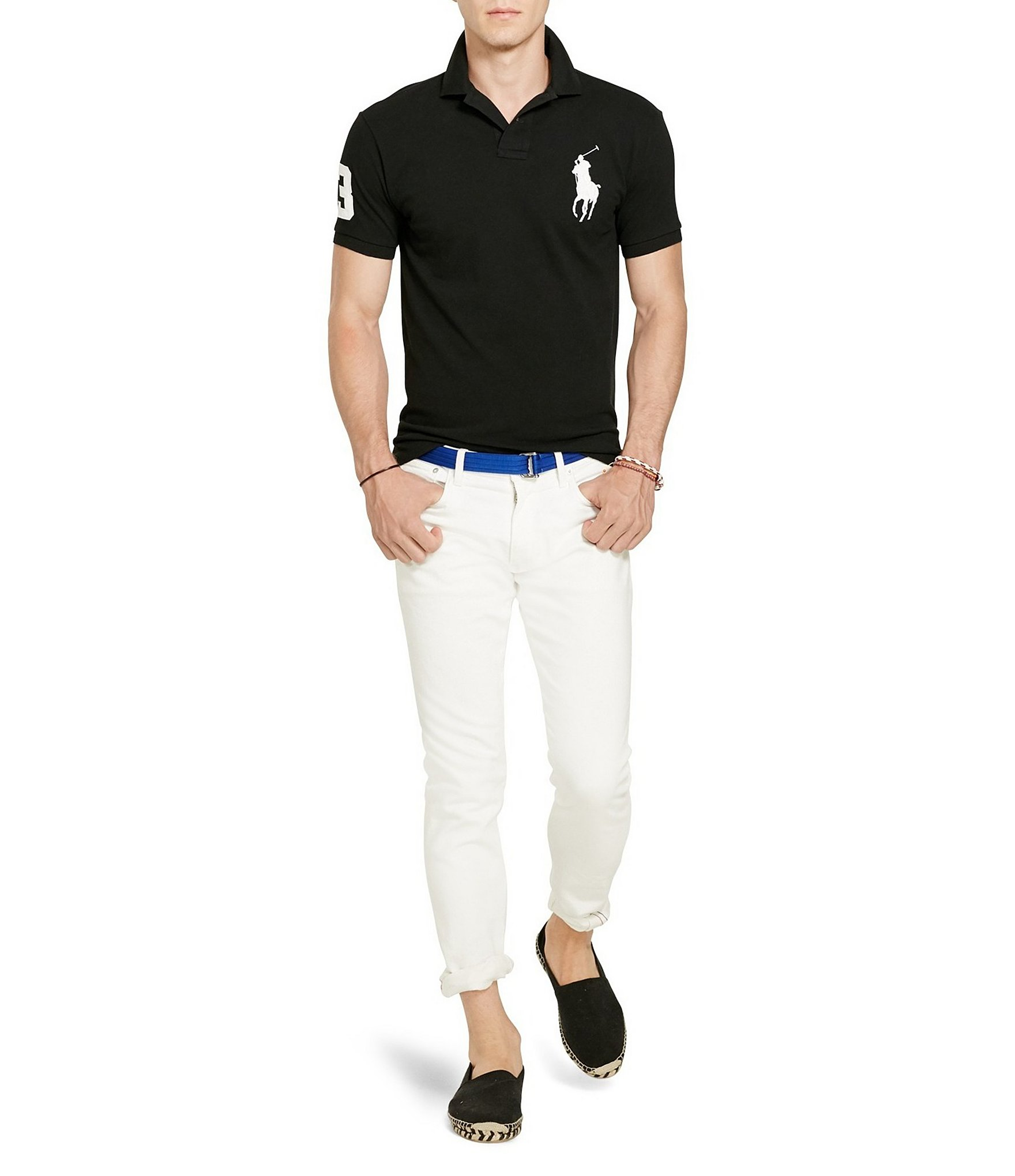 Polo-Ralph-Lauren-Men-039-s-Short-Sleeve-Big-Pony-Logo-Polo-Shirt thumbnail 4