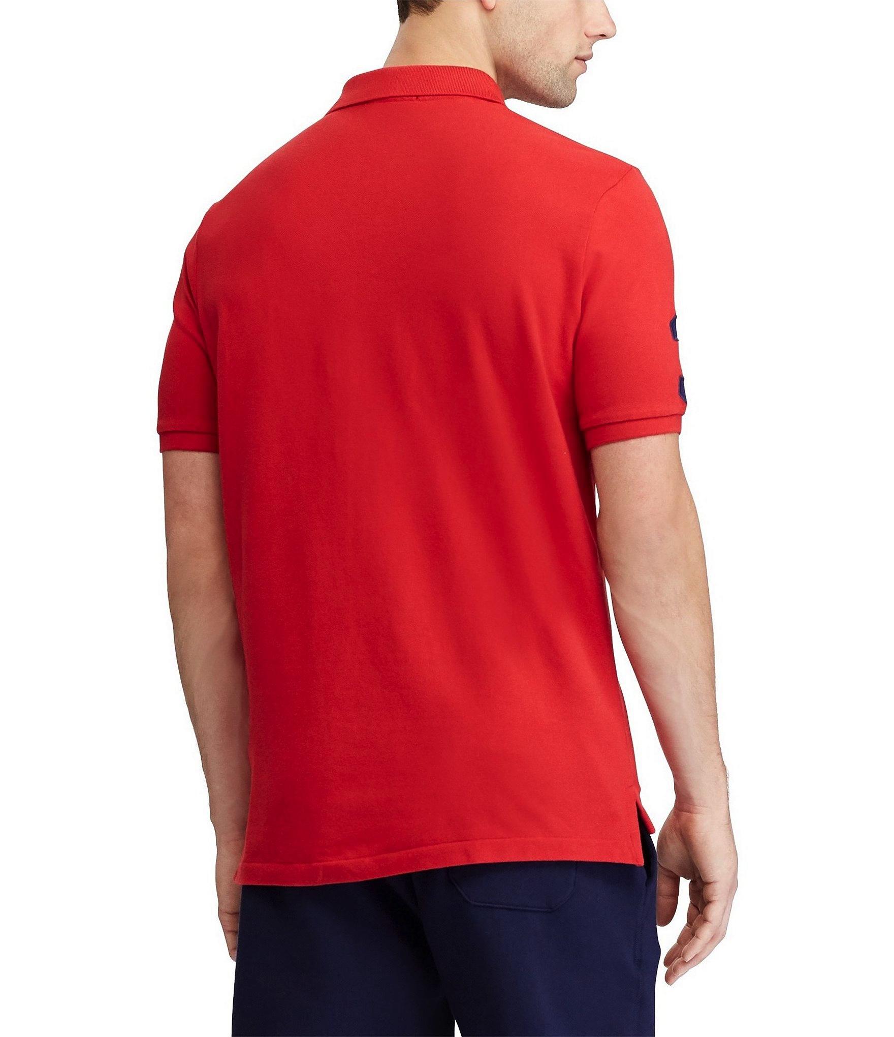 Polo-Ralph-Lauren-Men-039-s-Short-Sleeve-Big-Pony-Logo-Polo-Shirt thumbnail 9