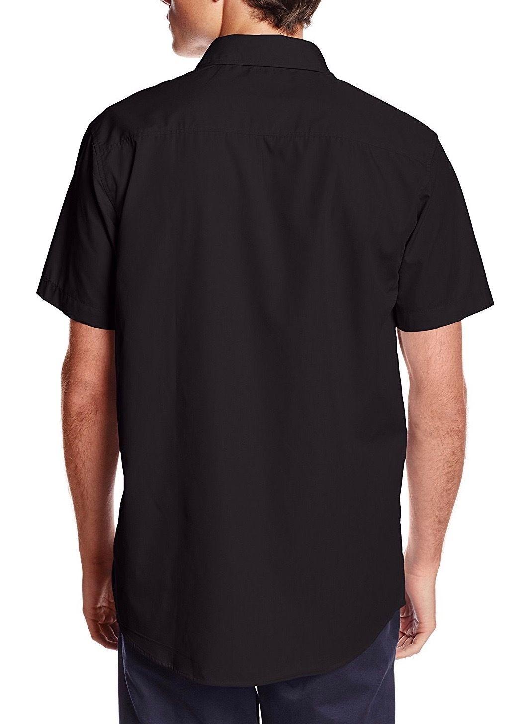 Berlioni-Italy-Men-039-s-Premium-Classic-Button-Down-Short-Sleeve-Solid-Dress-Shirt thumbnail 4