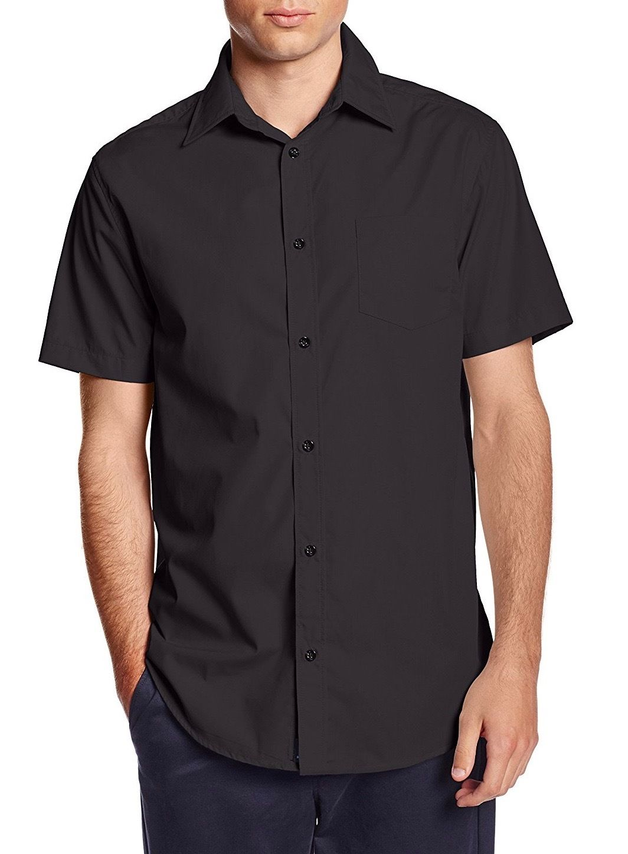 Berlioni-Italy-Men-039-s-Premium-Classic-Button-Down-Short-Sleeve-Solid-Dress-Shirt thumbnail 3