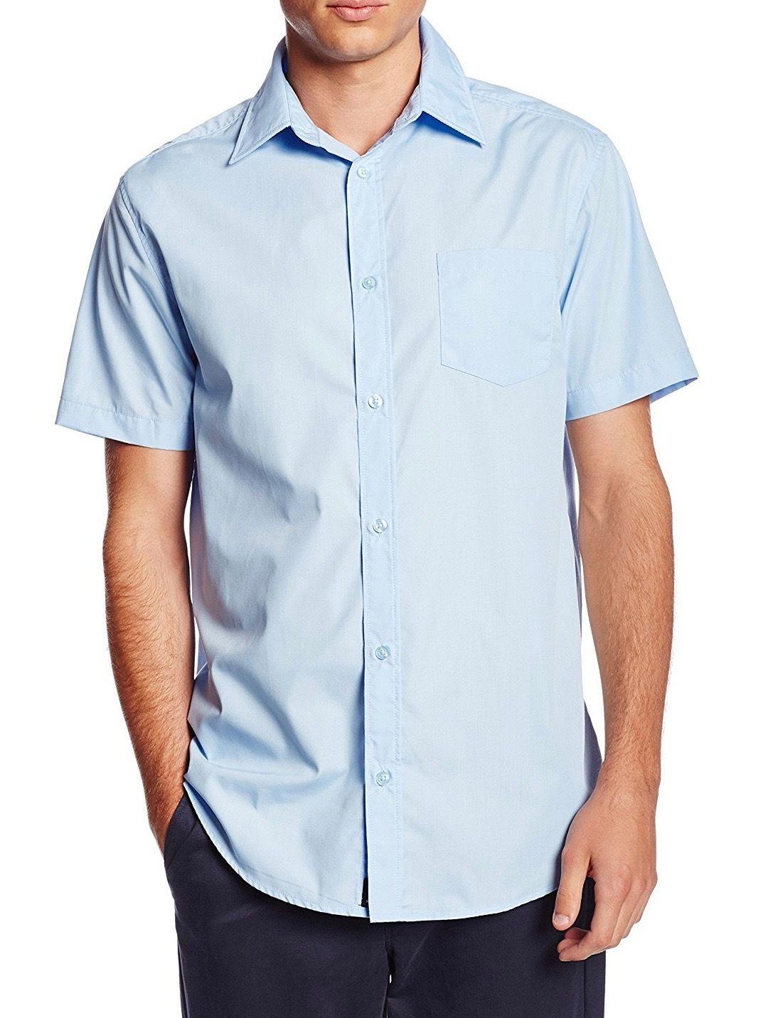 Berlioni-Italy-Men-039-s-Premium-Classic-Button-Down-Short-Sleeve-Solid-Dress-Shirt thumbnail 6