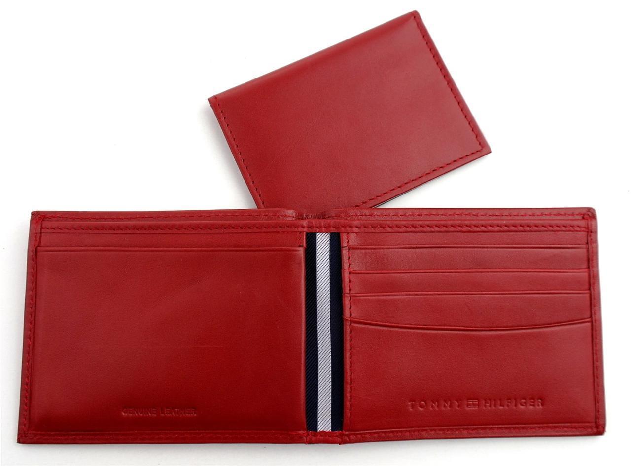 Tommy-Hilfiger-Men-039-s-Premium-Leather-Credit-Card-ID-Wallet-Passcase-31TL22X046 thumbnail 48