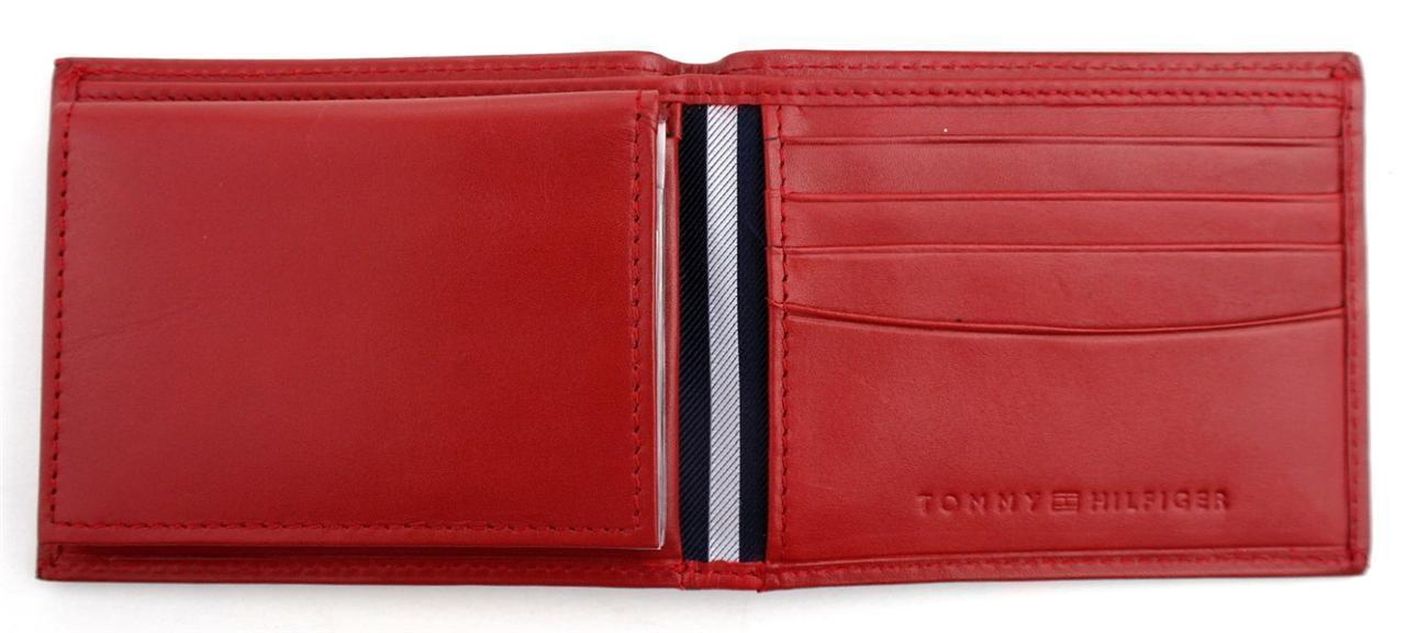 Tommy-Hilfiger-Men-039-s-Premium-Leather-Credit-Card-ID-Wallet-Passcase-31TL22X046 thumbnail 46