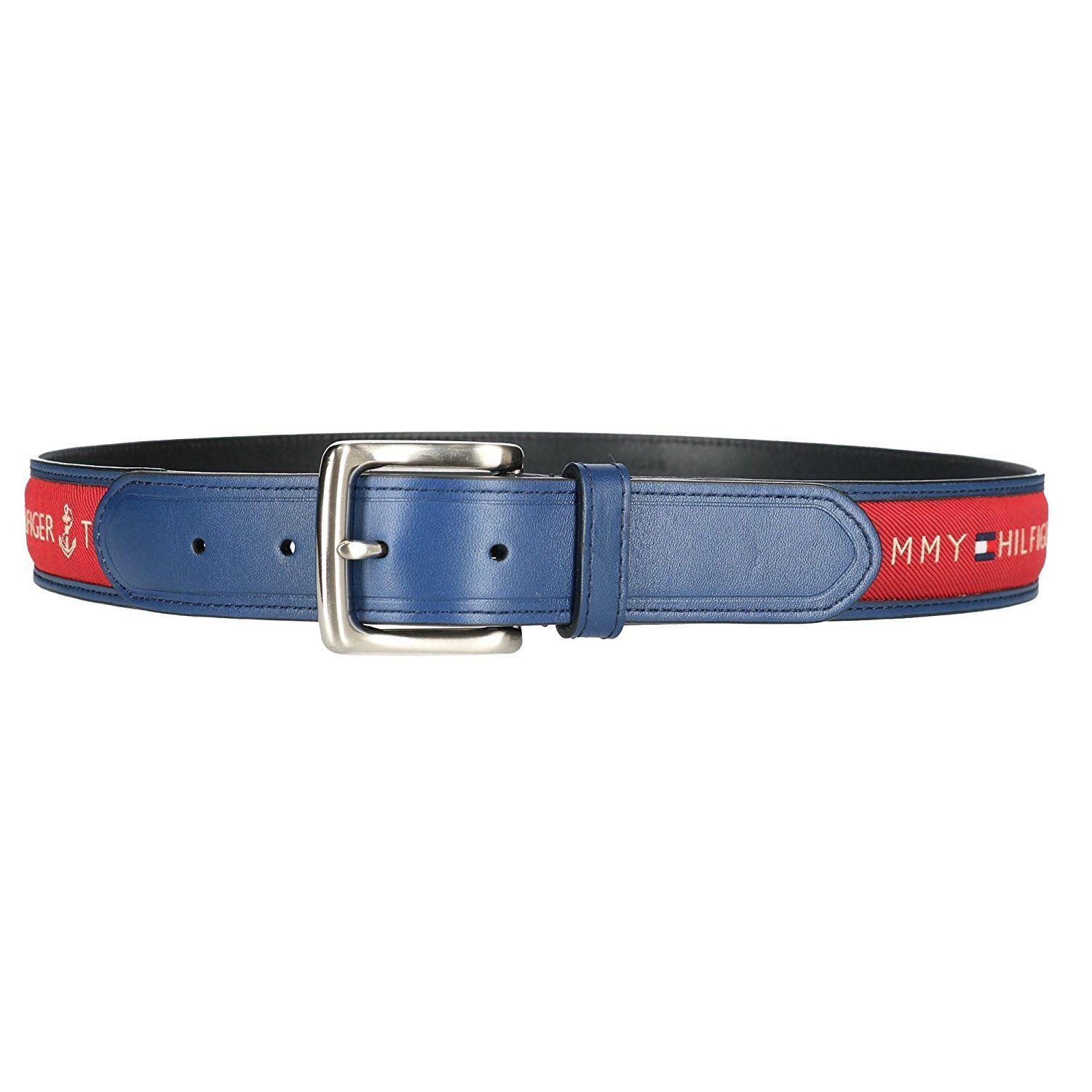 Tommy-Hilfiger-Men-039-s-Premium-Ribbon-Inlay-Anchor-Logo-Leather-Belt-11TL02X032 miniature 17