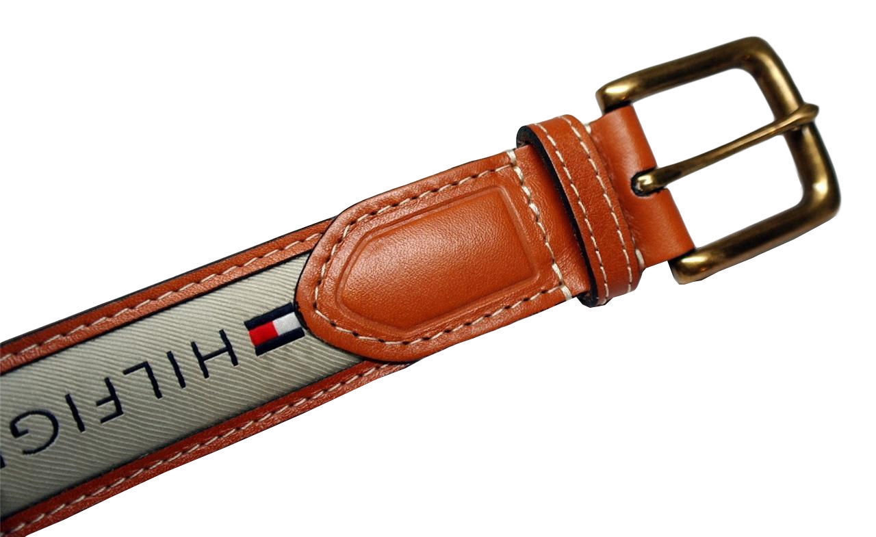Tommy-Hilfiger-Men-039-s-Premium-Ribbon-Inlay-Anchor-Logo-Leather-Belt-11TL02X032 miniature 7