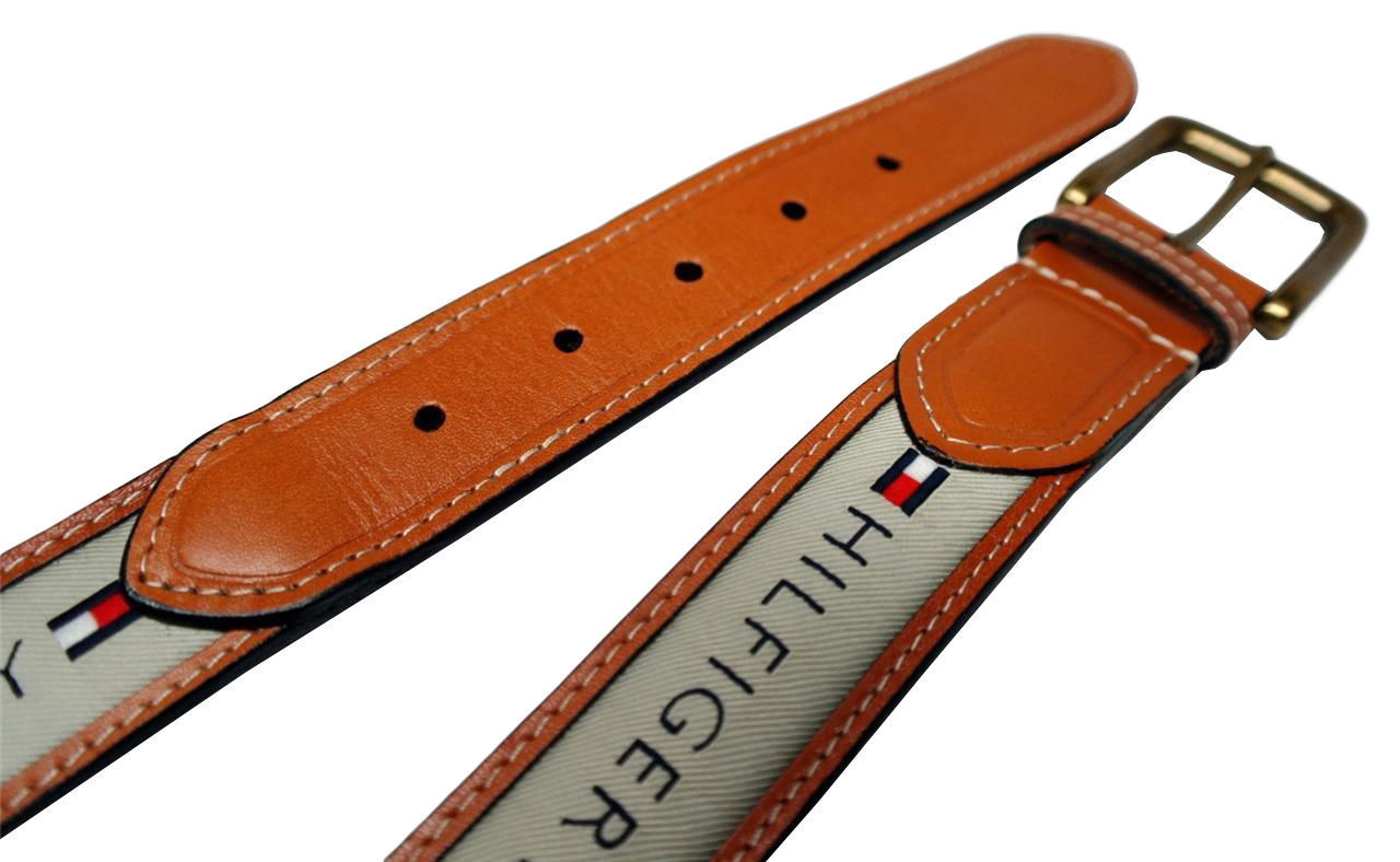 Tommy-Hilfiger-Men-039-s-Premium-Ribbon-Inlay-Anchor-Logo-Leather-Belt-11TL02X032 miniature 6