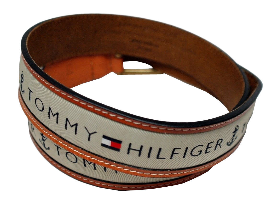 Tommy-Hilfiger-Men-039-s-Premium-Ribbon-Inlay-Anchor-Logo-Leather-Belt-11TL02X032 miniature 5