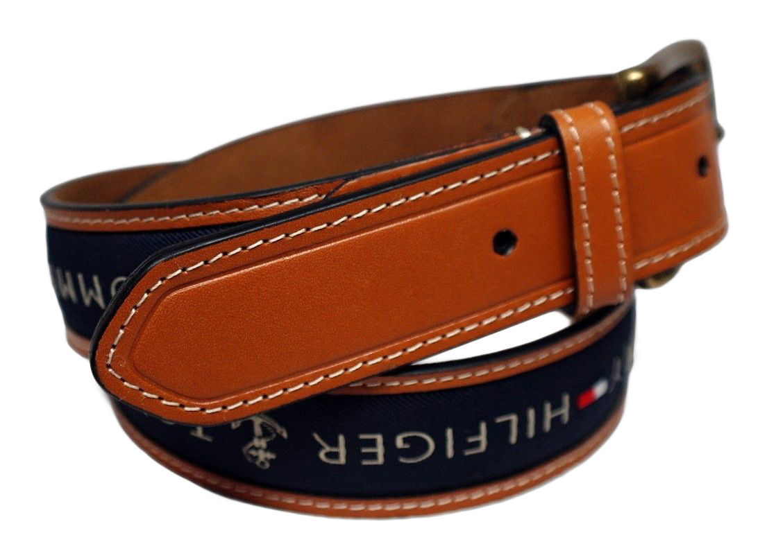 Tommy-Hilfiger-Men-039-s-Premium-Ribbon-Inlay-Anchor-Logo-Leather-Belt-11TL02X032 miniature 11