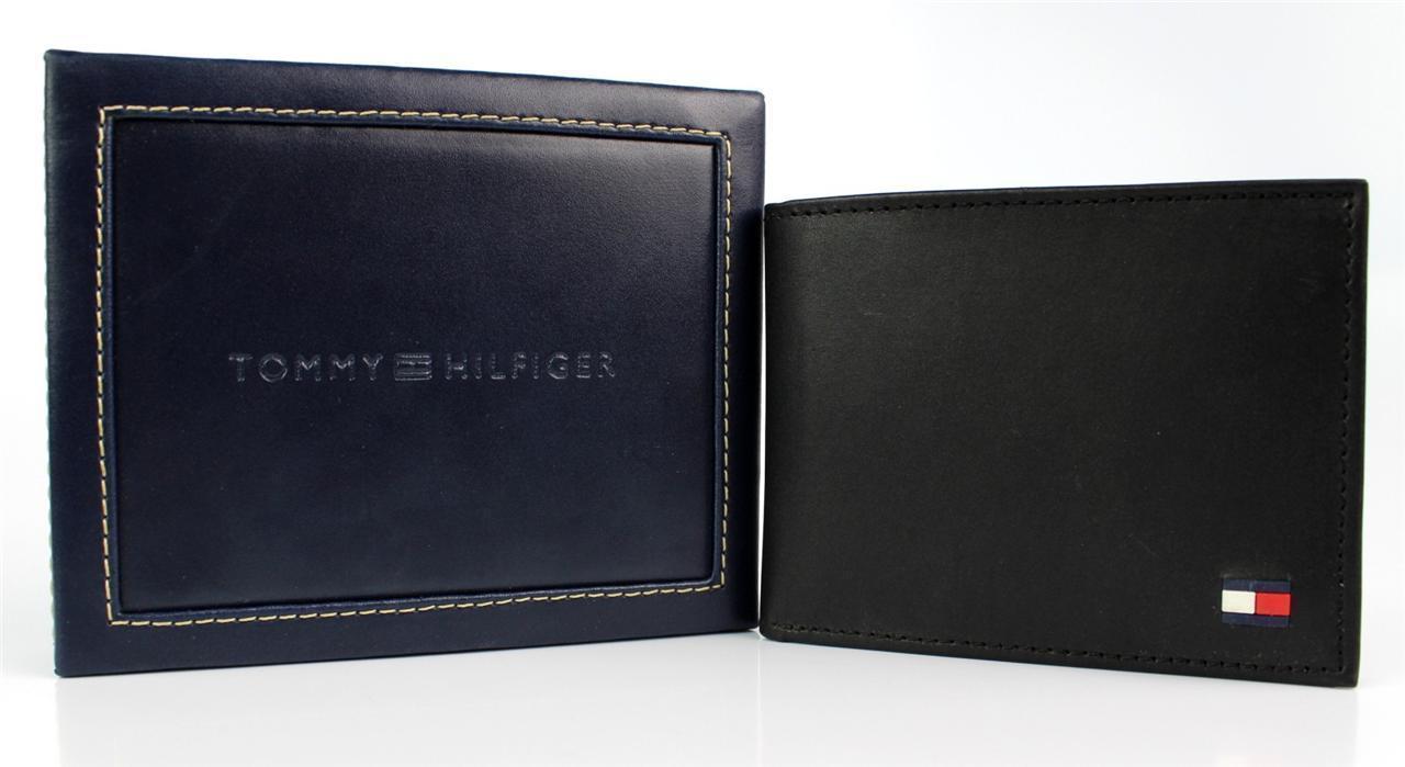 Tommy-Hilfiger-Men-039-s-Premium-Leather-Credit-Card-ID-Wallet-Passcase-31TL22X046 thumbnail 7