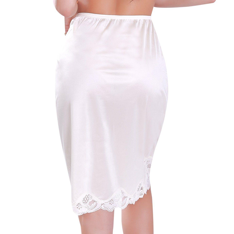 New-Women-039-s-Premium-Illusion-Classic-Half-Slip-Skirt-With-Lace-Trim-1017-1817 thumbnail 4