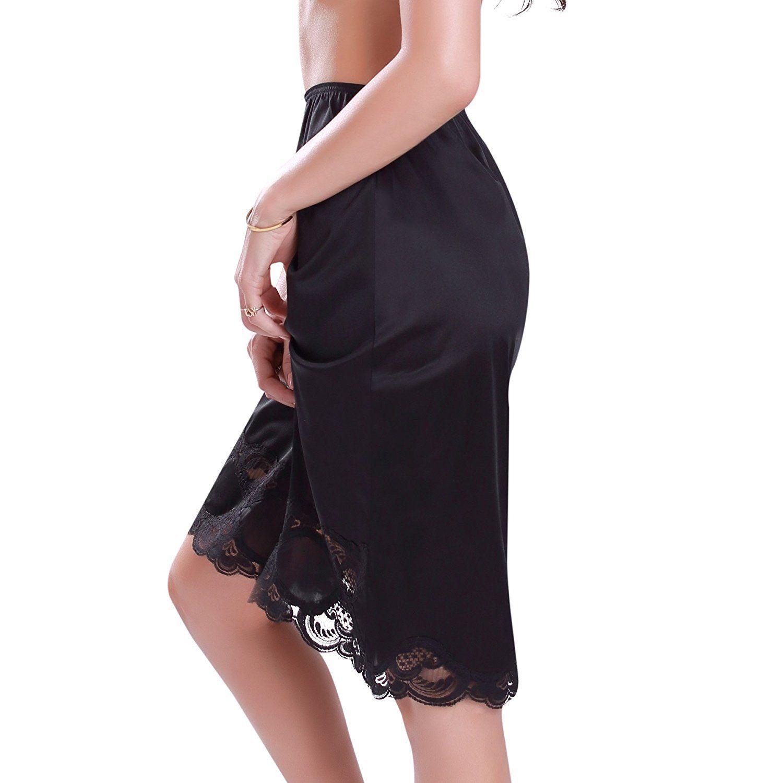 New-Women-039-s-Premium-Illusion-Classic-Half-Slip-Skirt-With-Lace-Trim-1017-1817 thumbnail 6