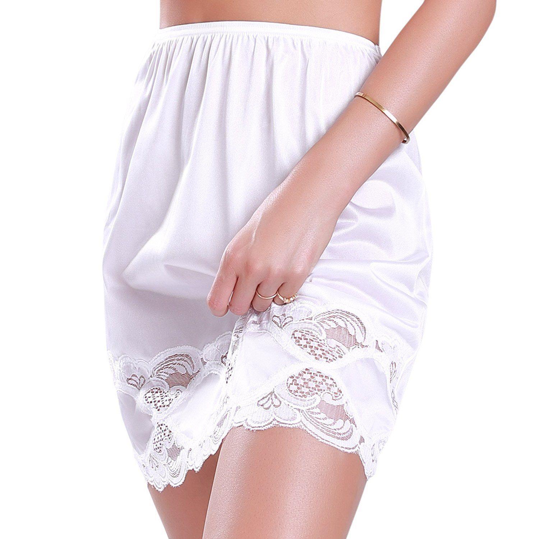 New-Women-039-s-Premium-Illusion-Classic-Half-Slip-Skirt-With-Lace-Trim-1017-1817 thumbnail 10