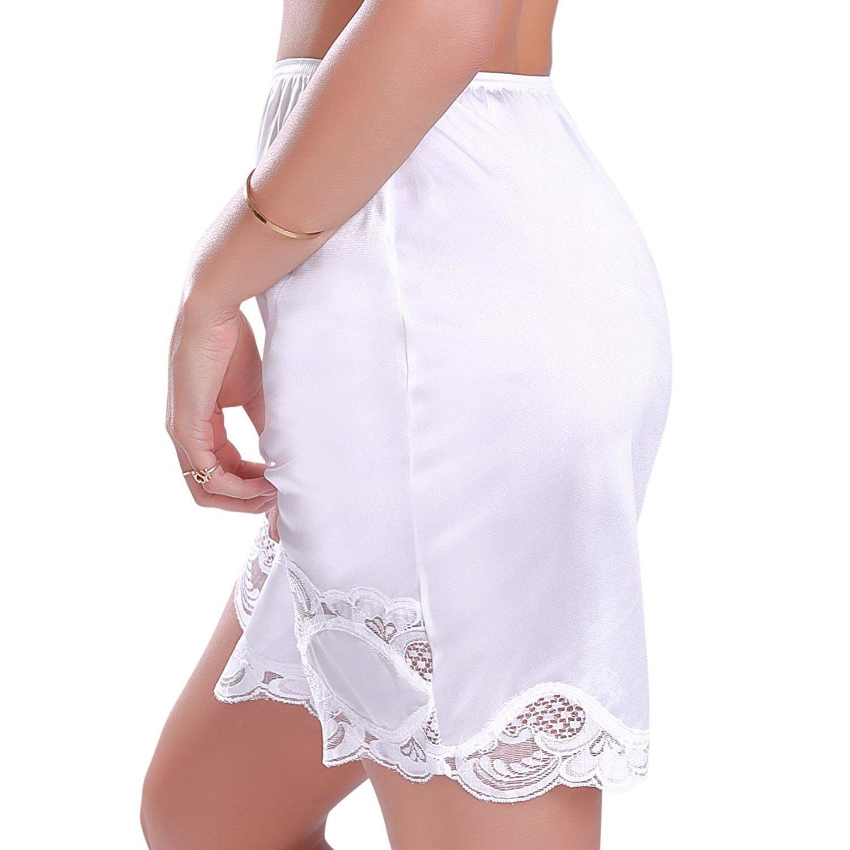New-Women-039-s-Premium-Illusion-Classic-Half-Slip-Skirt-With-Lace-Trim-1017-1817 thumbnail 9