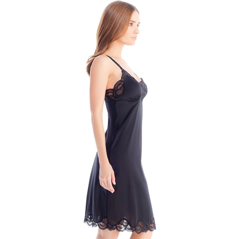 Illusion-Women-039-s-Premium-Nylon-Full-Slip-With-Lace-Trim-Adjustable-Straps-2012 thumbnail 7