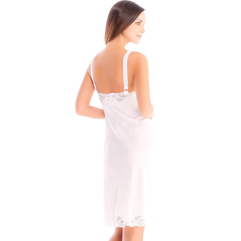 Illusion-Women-039-s-Premium-Nylon-Full-Slip-With-Lace-Trim-Adjustable-Straps-2012 thumbnail 10