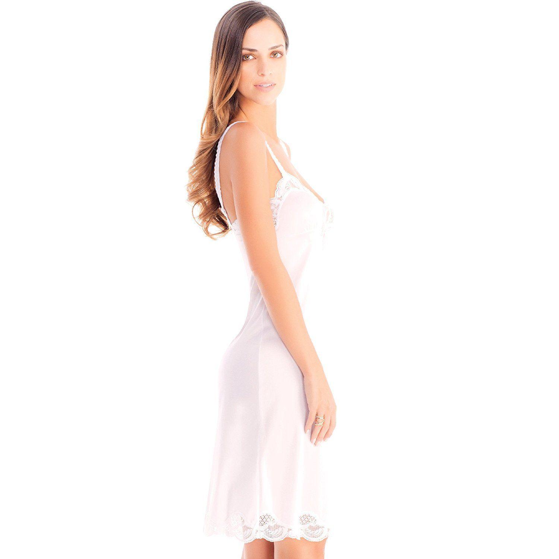 Illusion-Women-039-s-Premium-Nylon-Full-Slip-With-Lace-Trim-Adjustable-Straps-2012 thumbnail 9