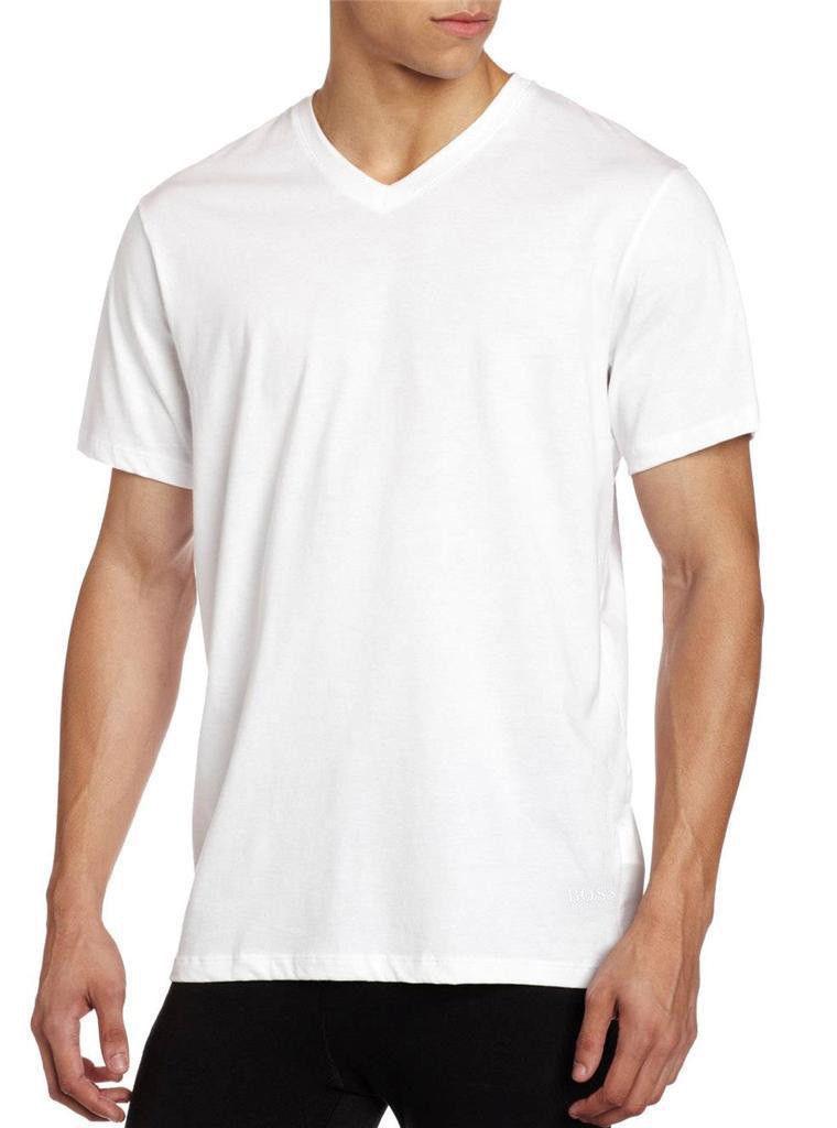 Hugo-Boss-Men-039-s-3-Pack-Pure-Cotton-Regular-Fit-V-Neck-Shirt-T-Shirt-50325386 thumbnail 3