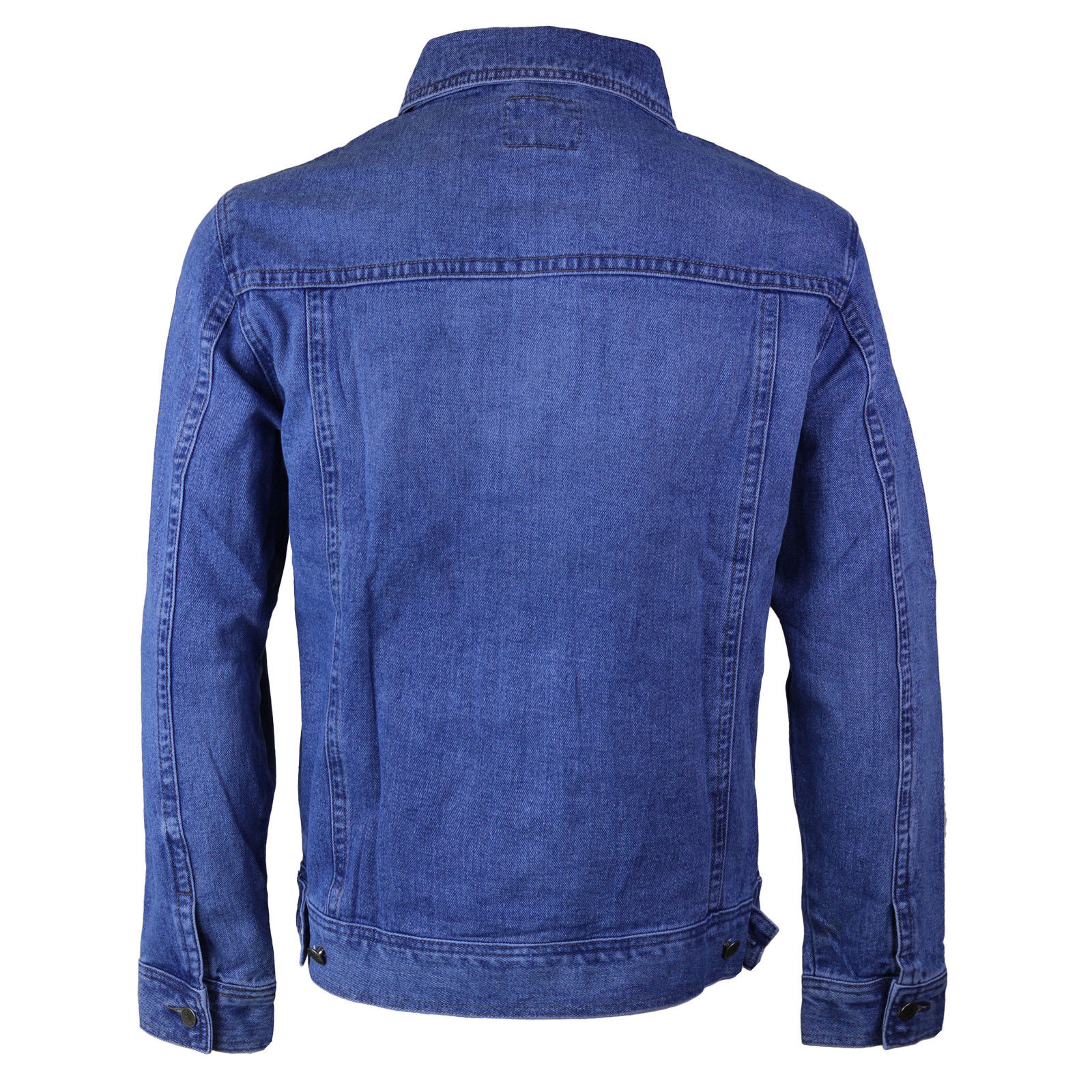 thumbnail 6 - Wacky-Jeans-Men-039-s-Classic-Premium-Cotton-Button-Up-Denim-Jean-Jacket-Blue