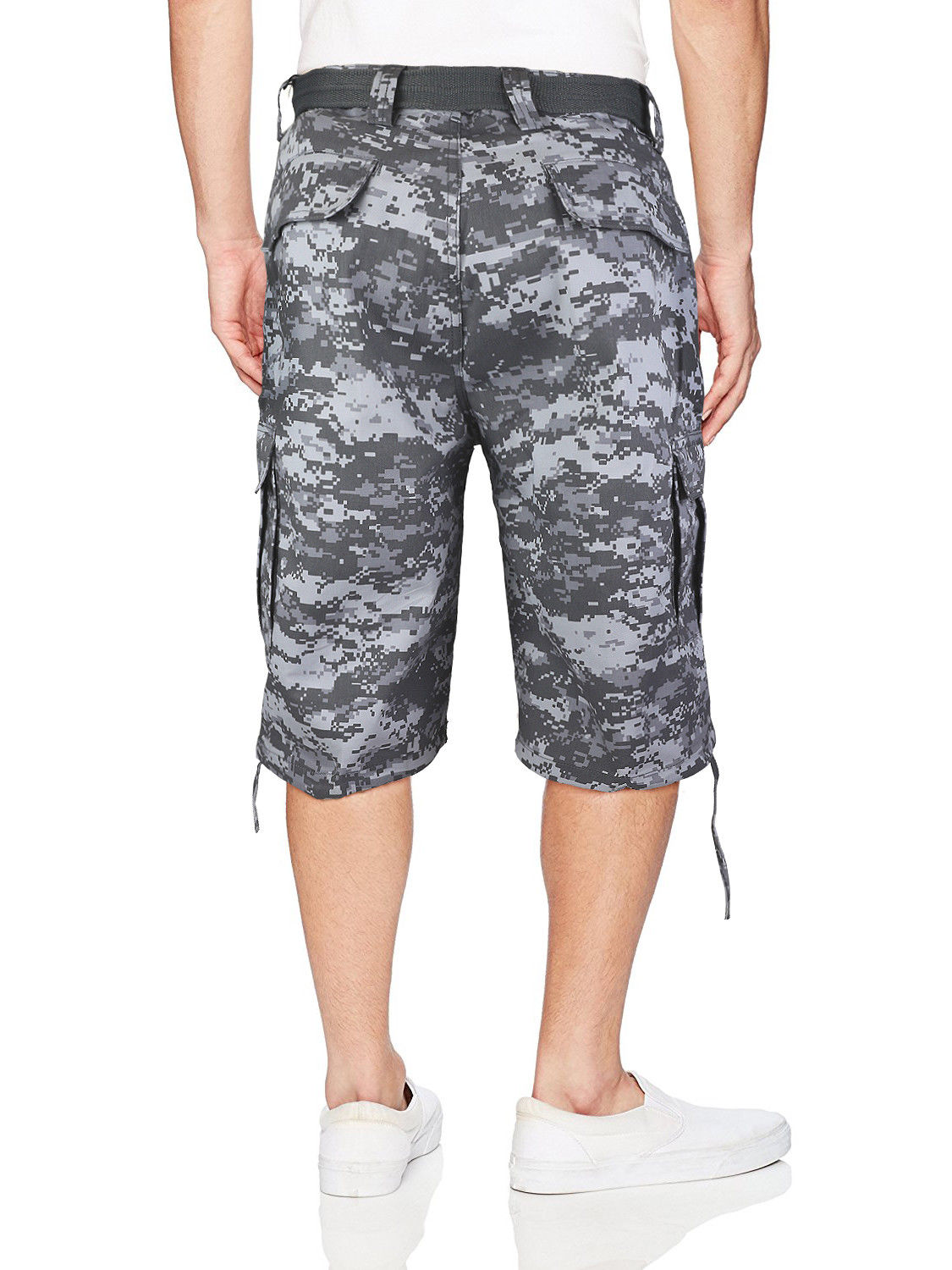Men-039-s-Tactical-Military-Army-Camo-Camouflage-Slim-Fit-Cargo-Shorts-With-Belt thumbnail 7