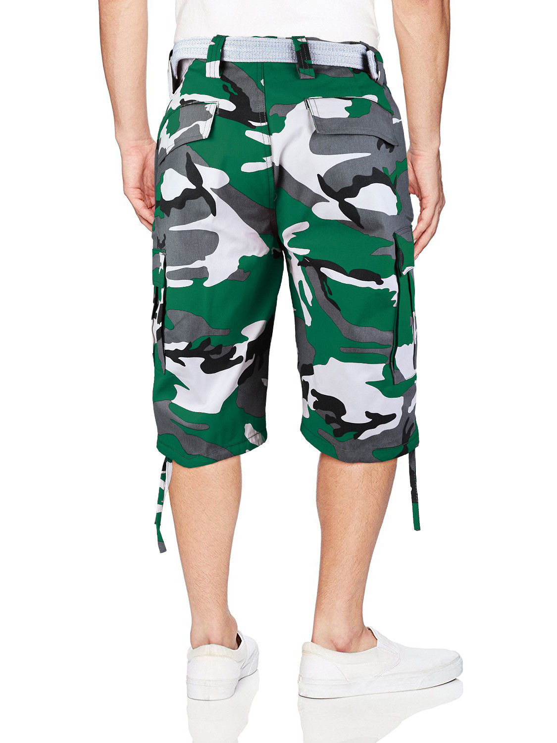 Men-039-s-Tactical-Military-Army-Camo-Camouflage-Slim-Fit-Cargo-Shorts-With-Belt thumbnail 9