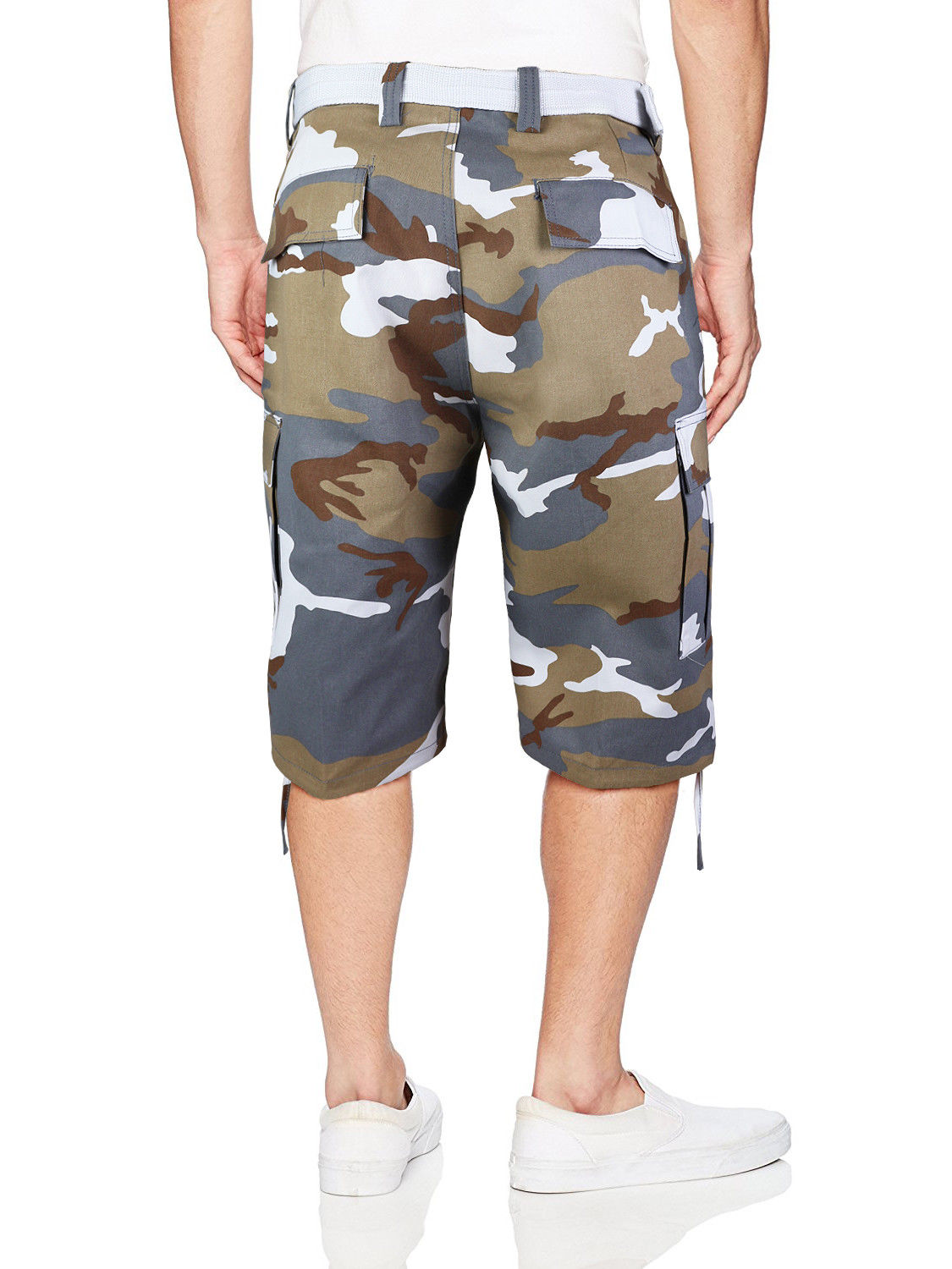 Men-039-s-Tactical-Military-Army-Camo-Camouflage-Slim-Fit-Cargo-Shorts-With-Belt thumbnail 11