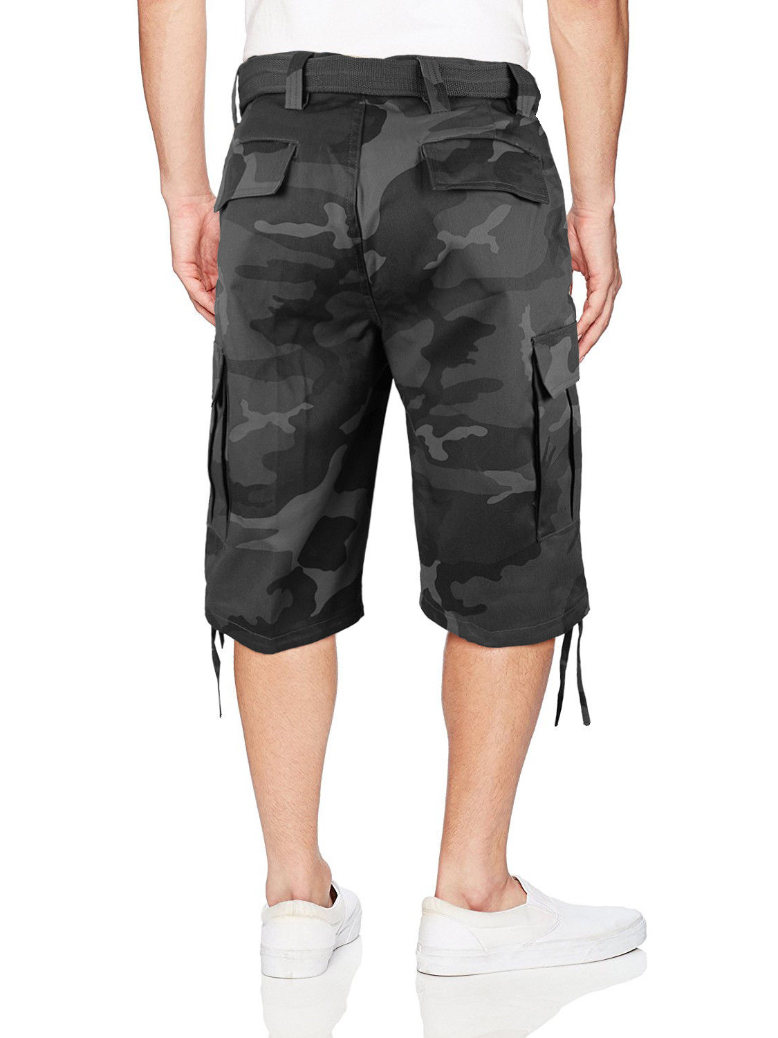 Men-039-s-Tactical-Military-Army-Camo-Camouflage-Slim-Fit-Cargo-Shorts-With-Belt thumbnail 15