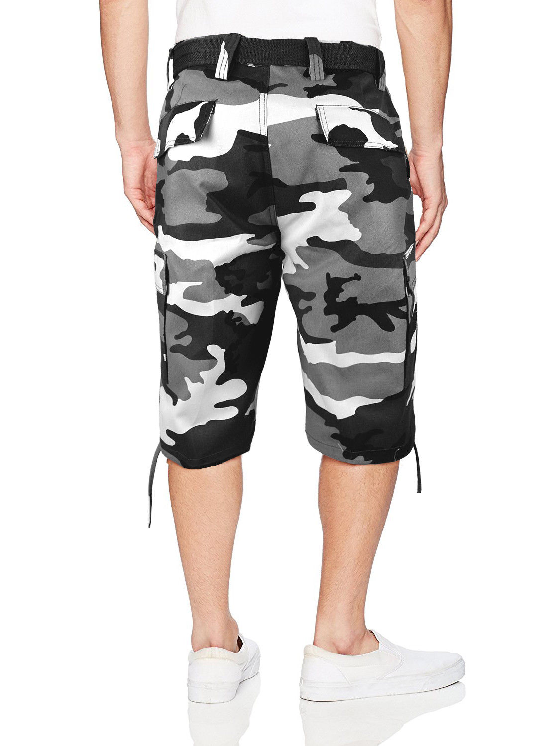 Men-039-s-Tactical-Military-Army-Camo-Camouflage-Slim-Fit-Cargo-Shorts-With-Belt thumbnail 17