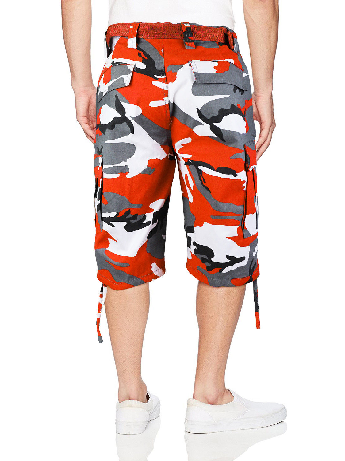 Men-039-s-Tactical-Military-Army-Camo-Camouflage-Slim-Fit-Cargo-Shorts-With-Belt thumbnail 19