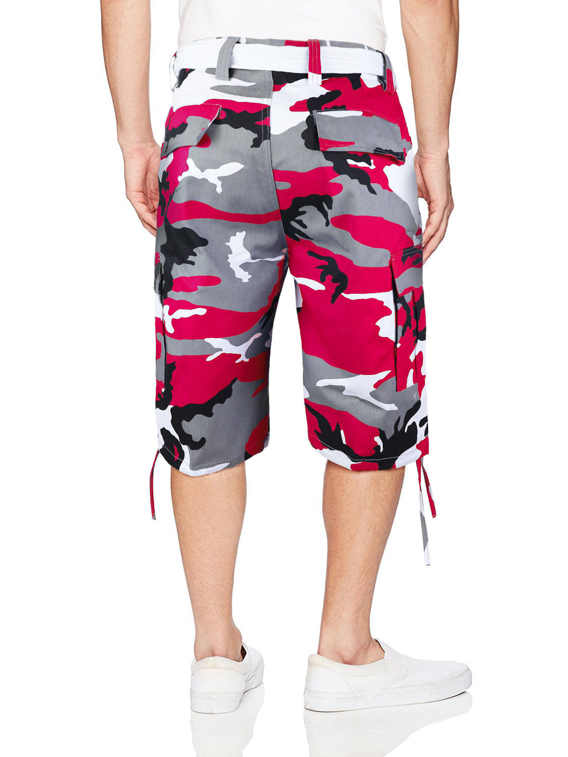 Men-039-s-Tactical-Military-Army-Camo-Camouflage-Slim-Fit-Cargo-Shorts-With-Belt thumbnail 21
