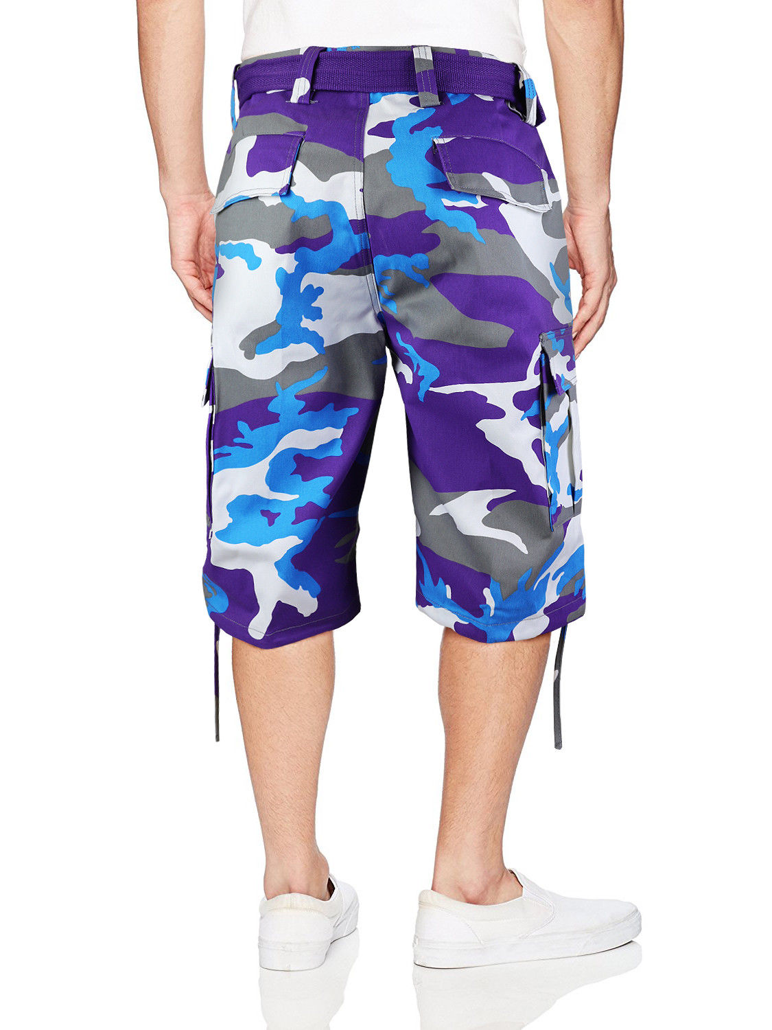 Men-039-s-Tactical-Military-Army-Camo-Camouflage-Slim-Fit-Cargo-Shorts-With-Belt thumbnail 23