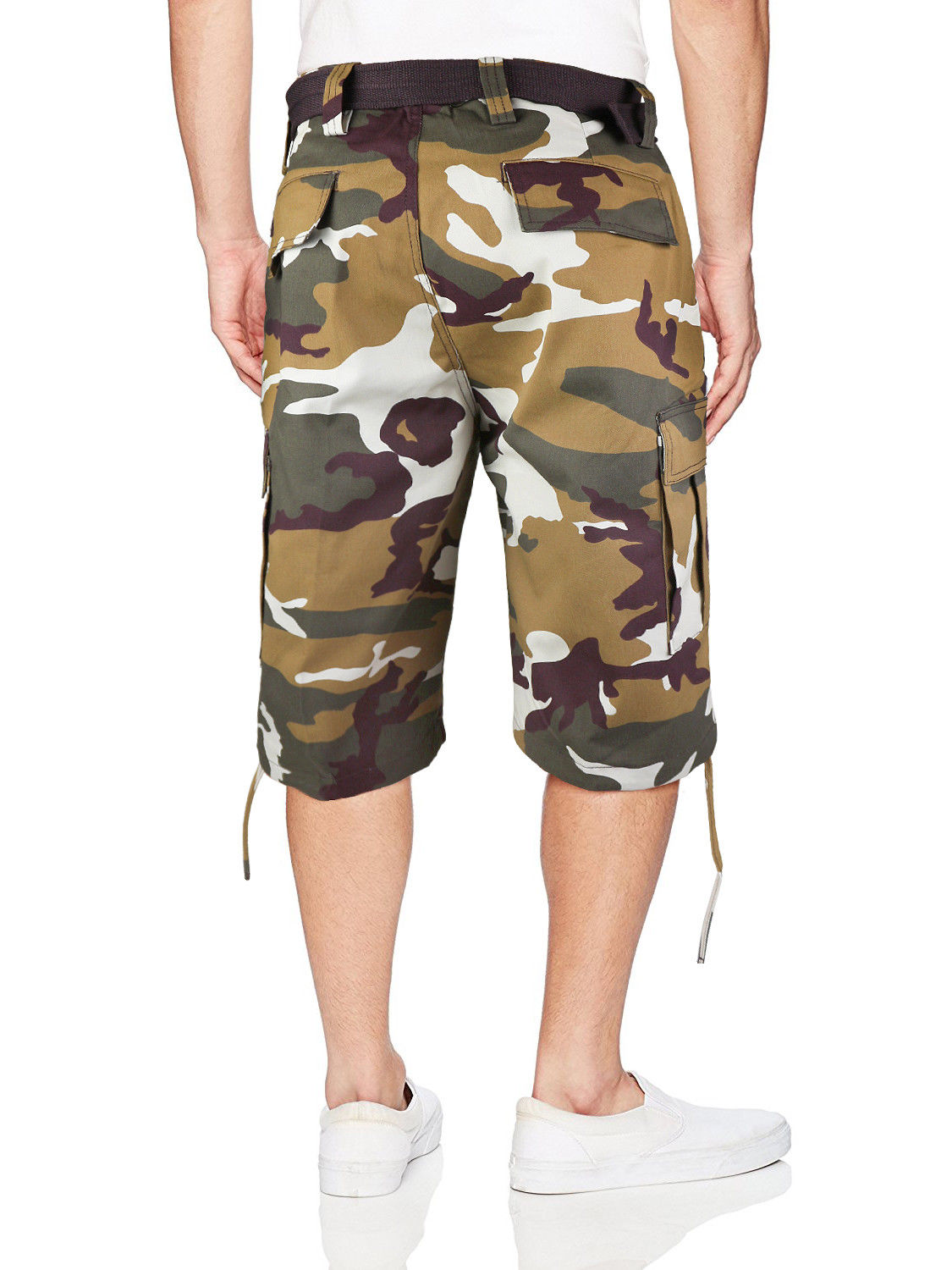 Men-039-s-Tactical-Military-Army-Camo-Camouflage-Slim-Fit-Cargo-Shorts-With-Belt thumbnail 29