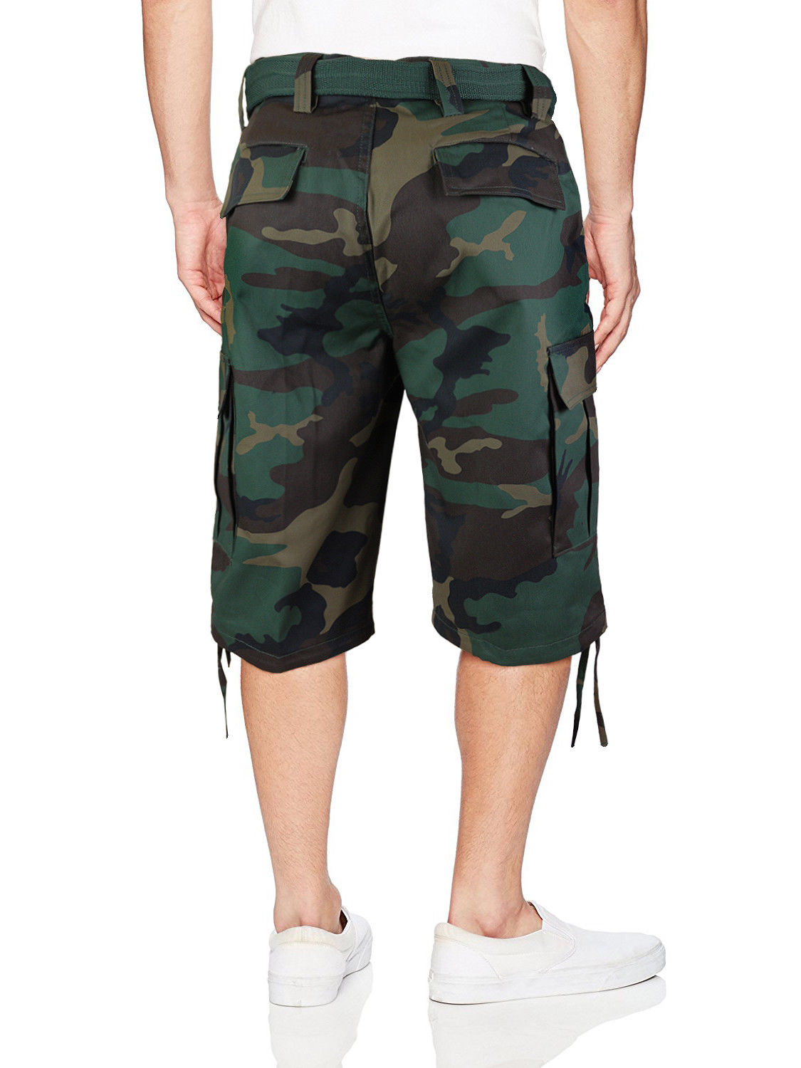 Men-039-s-Tactical-Military-Army-Camo-Camouflage-Slim-Fit-Cargo-Shorts-With-Belt thumbnail 31
