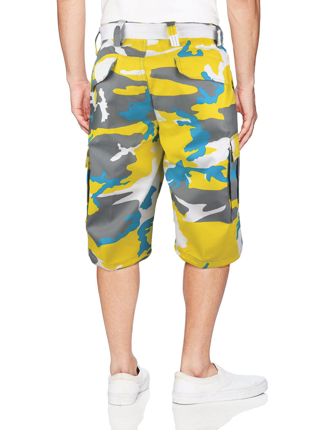 Men-039-s-Tactical-Military-Army-Camo-Camouflage-Slim-Fit-Cargo-Shorts-With-Belt thumbnail 33