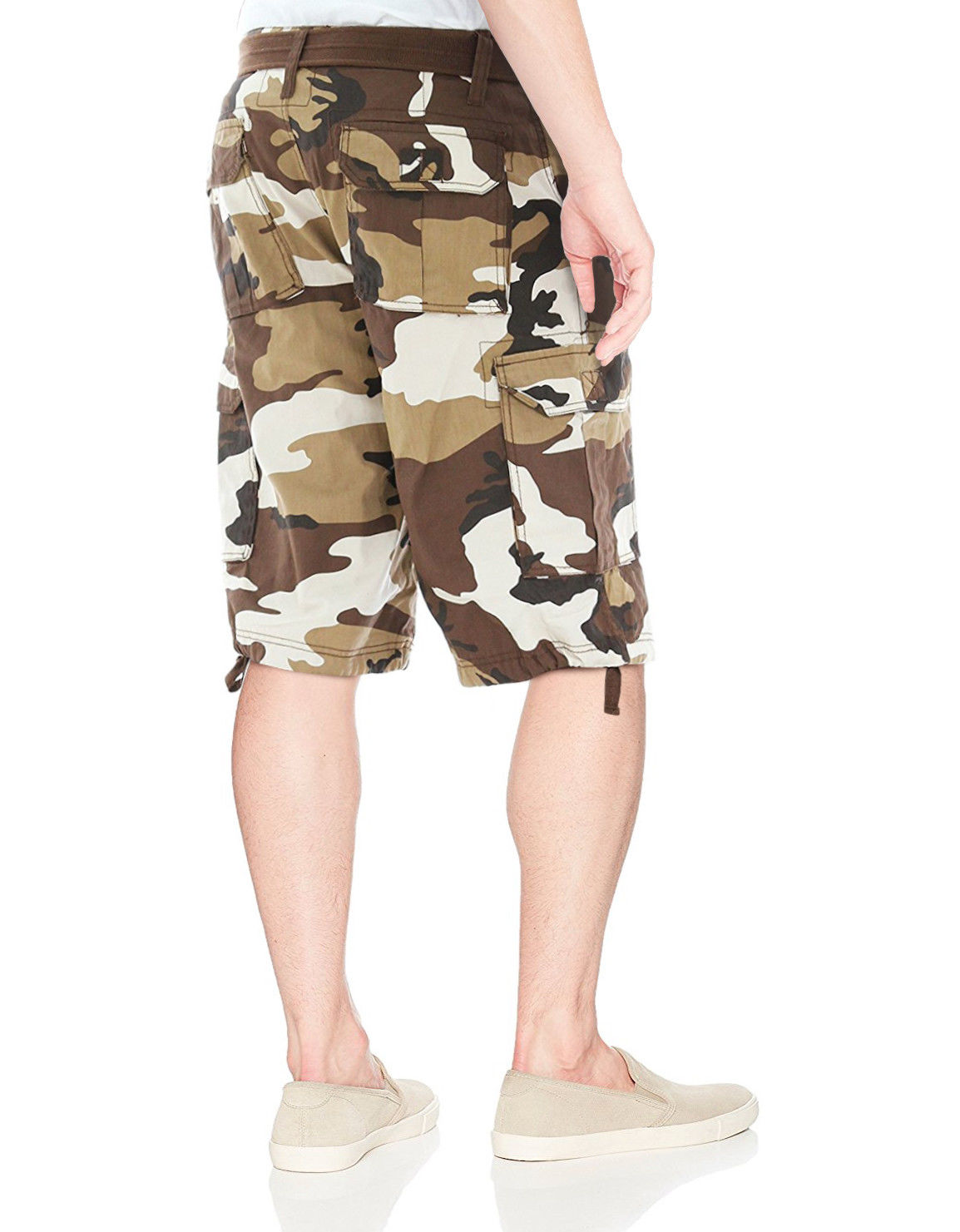 Men-039-s-Tactical-Combat-Military-Army-Cotton-Twill-Camo-Cargo-Shorts-With-Belt thumbnail 4