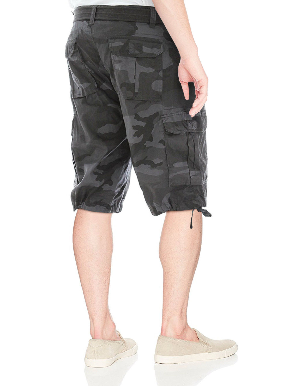 Men-039-s-Tactical-Combat-Military-Army-Cotton-Twill-Camo-Cargo-Shorts-With-Belt thumbnail 8