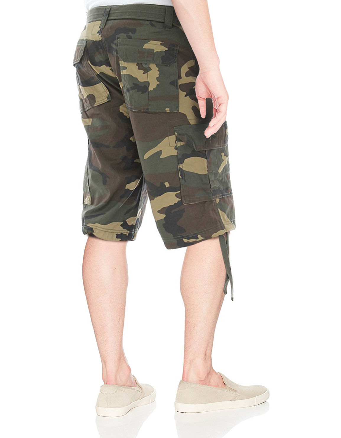 Men-039-s-Tactical-Combat-Military-Army-Cotton-Twill-Camo-Cargo-Shorts-With-Belt thumbnail 10