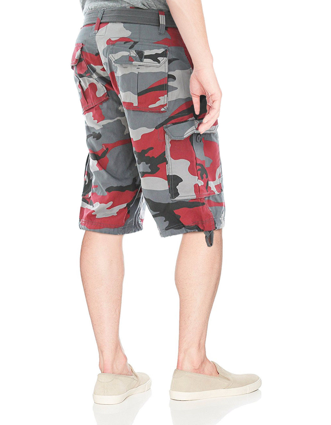 Men-039-s-Tactical-Combat-Military-Army-Cotton-Twill-Camo-Cargo-Shorts-With-Belt thumbnail 15
