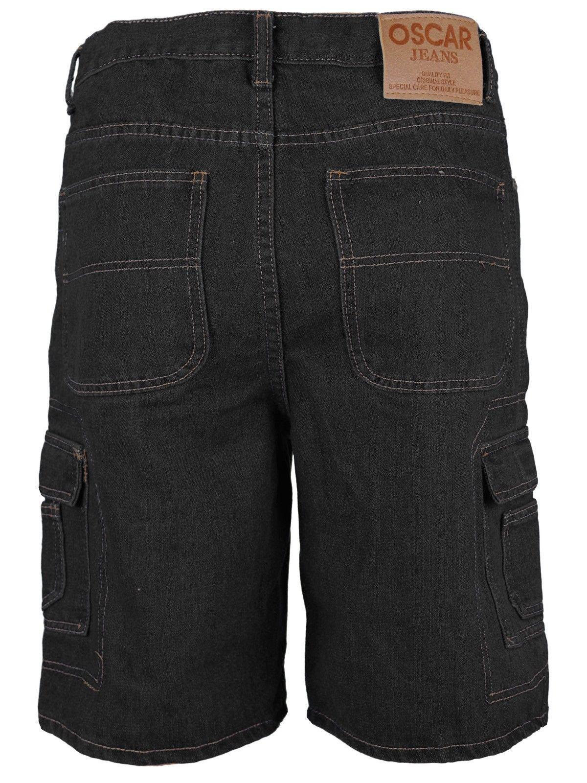 Men-039-s-Premium-Cotton-Multi-Pocket-Relaxed-Fit-Stonewash-Denim-Jean-Cargo-Shorts thumbnail 10