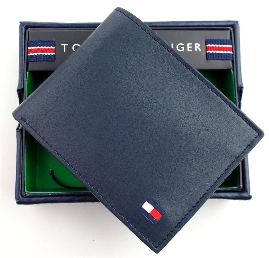 Tommy-Hilfiger-Men-039-s-Premium-Leather-Credit-Card-ID-Wallet-Passcase-31TL22X046 thumbnail 26