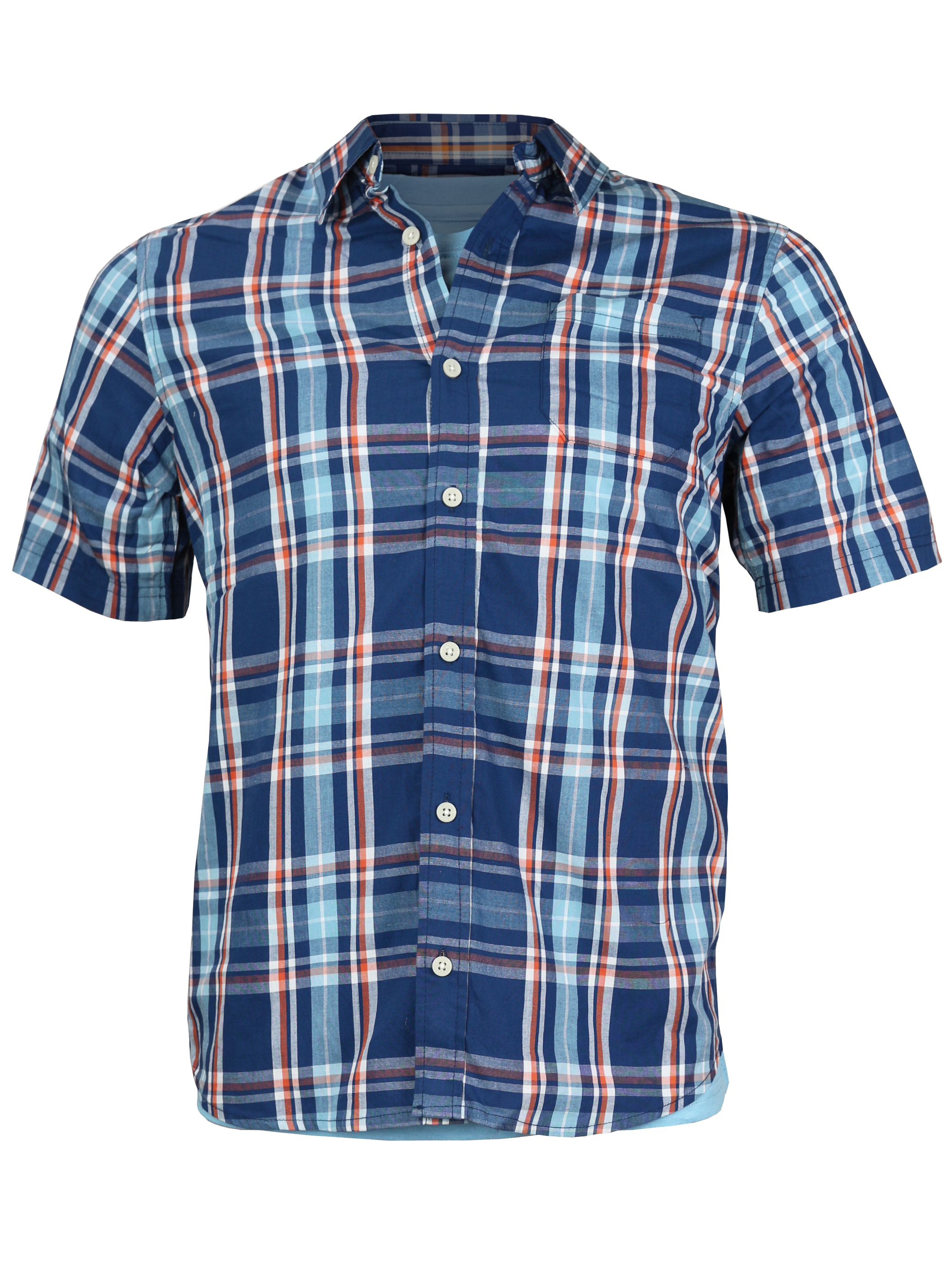 Urban Pipeline Boys Kids Plaid Short Sleeve Casual Dress Shirt W