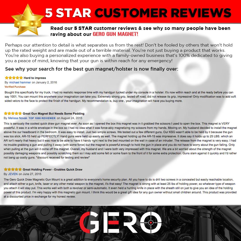 thumbnail 28 - GERO Tactical Quick Draw Gun Magnet Concealed Rifle & Shotgun Magnetic Holder