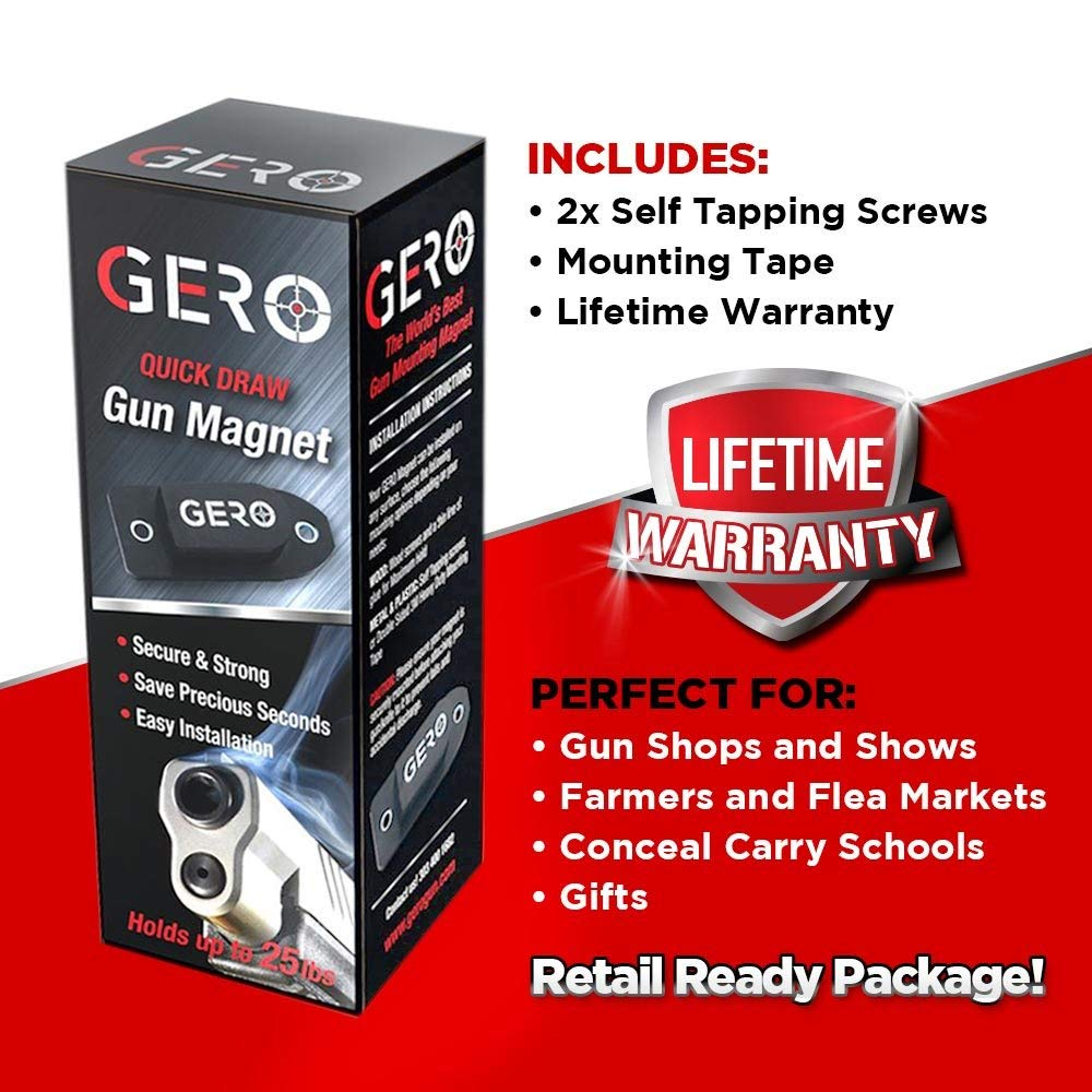 thumbnail 20 - GERO Tactical Quick Draw Gun Magnet Concealed Rifle & Shotgun Magnetic Holder