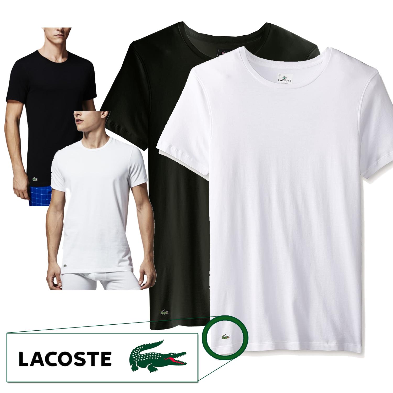 Lacoste Men's Cotton Stretch Slim Fit Crew-Neck T-Shirt 100 ...